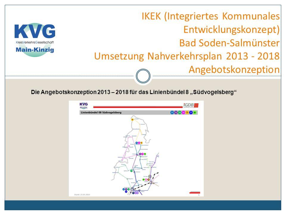 IKEK (Integriertes Kommunales Entwicklungskonzept) Bad Soden-Salmünster Umsetzung Nahverkehrsplan 2013 - 2018 Angebotskonzeption