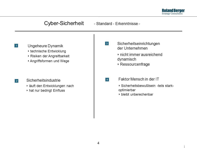 Cyber-Sicherheit - Standard - Erkenntnisse -