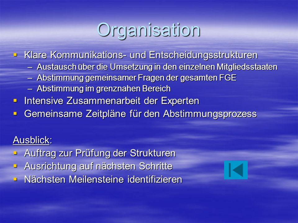 Organisation Klare Kommunikations- und Entscheidungsstrukturen