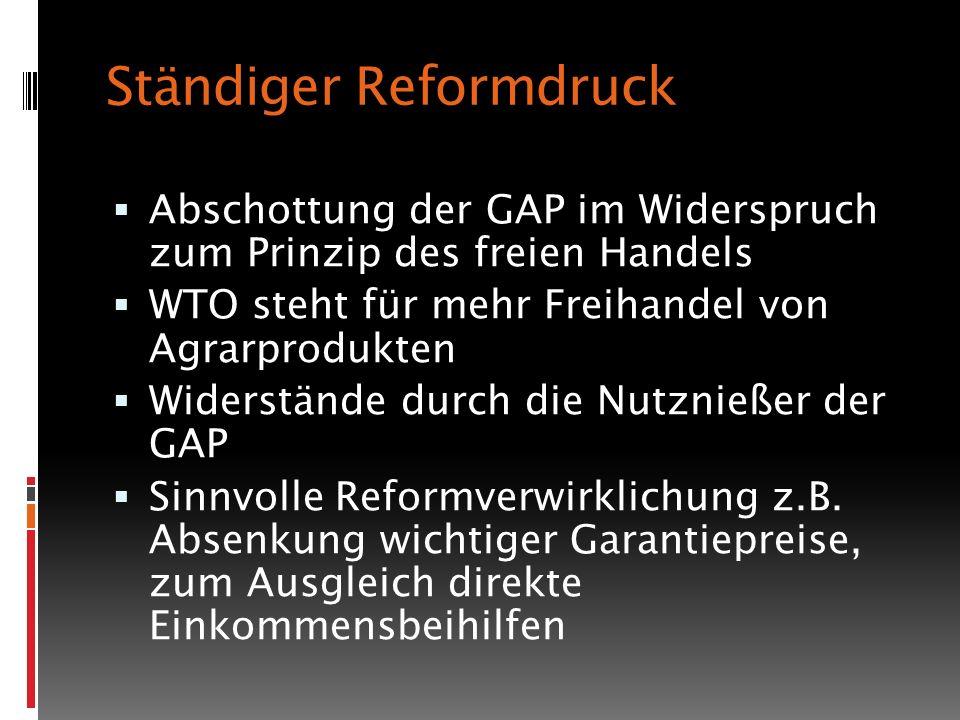 Ständiger Reformdruck
