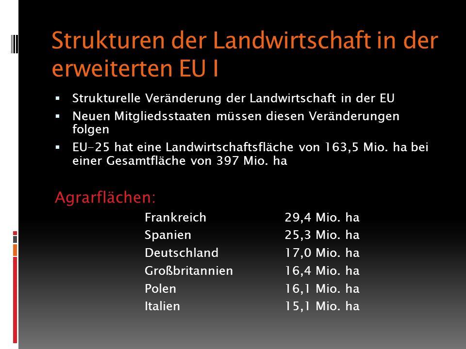 Strukturen der Landwirtschaft in der erweiterten EU I