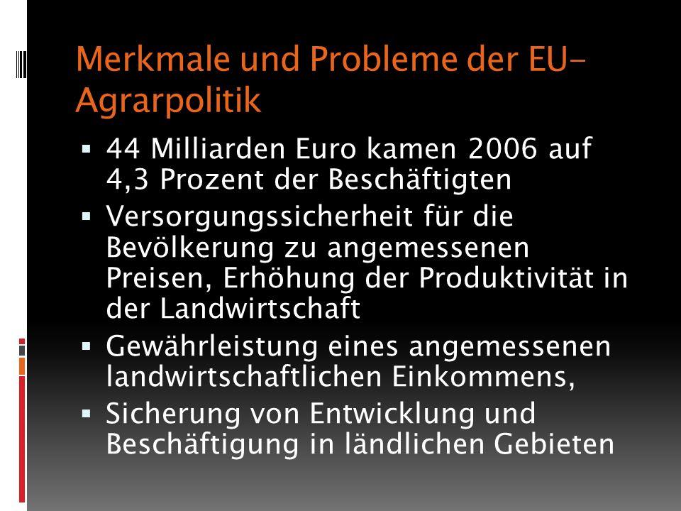 Merkmale und Probleme der EU-Agrarpolitik