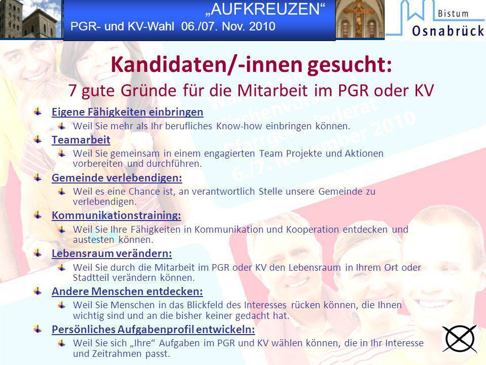 Kandidaten/-innen gesucht: 7 gute Gründe für die Mitarbeit im PGR oder KV
