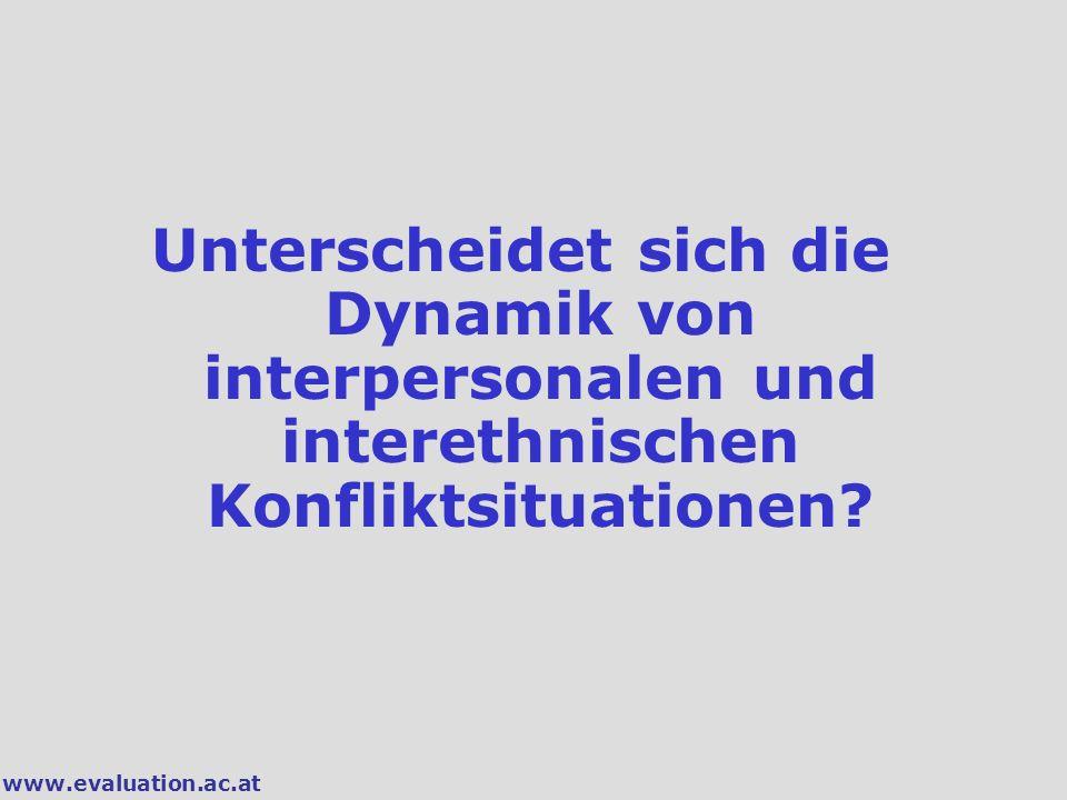 Unterscheidet sich die Dynamik von interpersonalen und interethnischen Konfliktsituationen