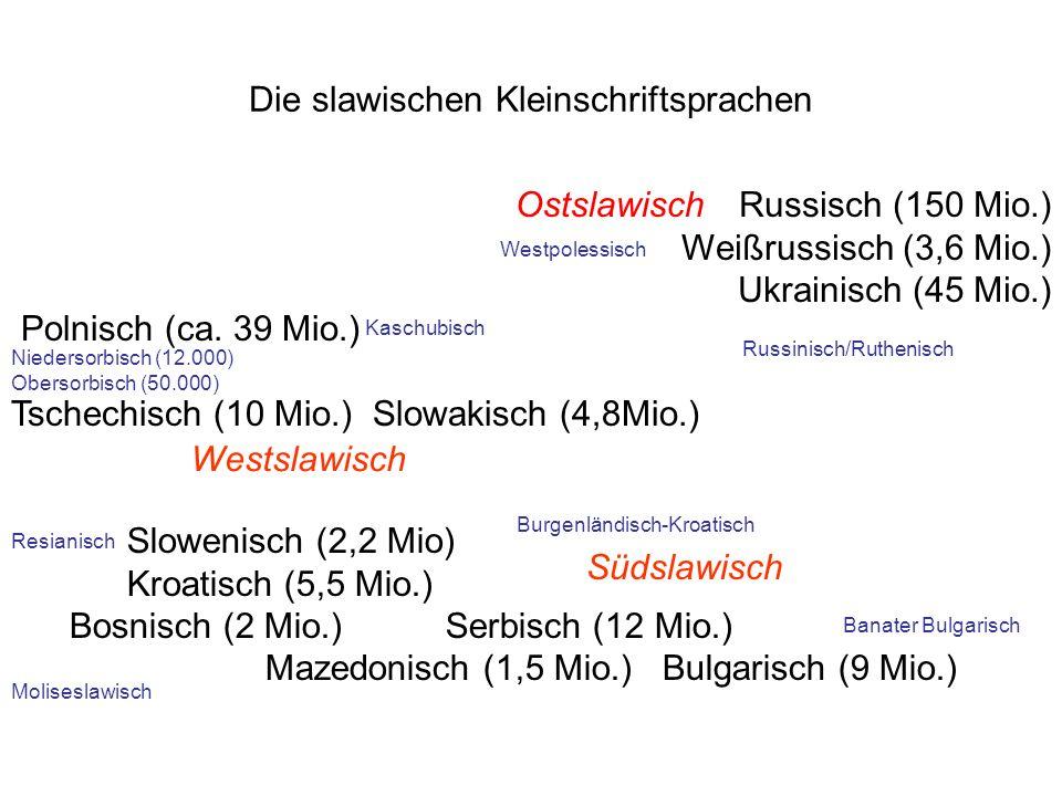 Die slawischen Kleinschriftsprachen