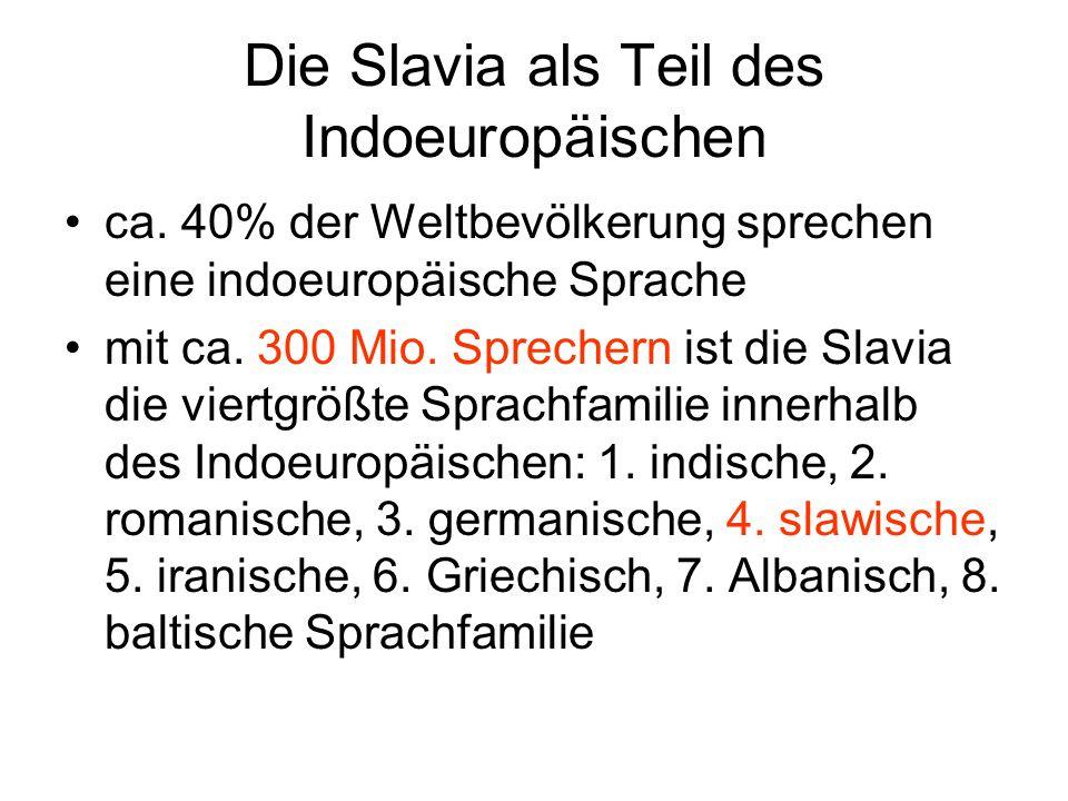 Die Slavia als Teil des Indoeuropäischen