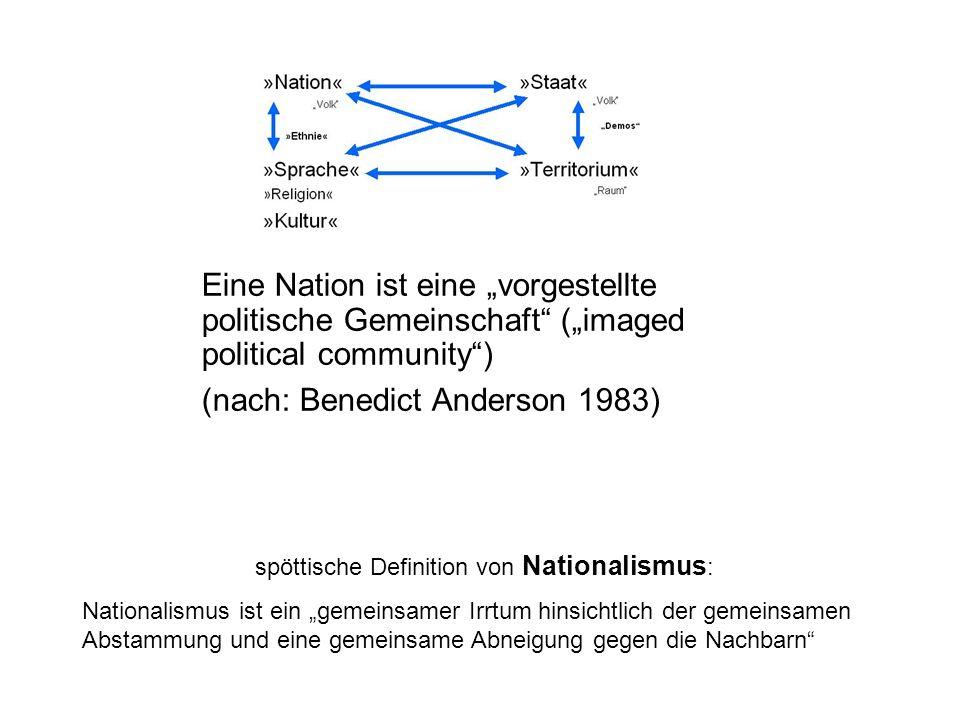 spöttische Definition von Nationalismus: