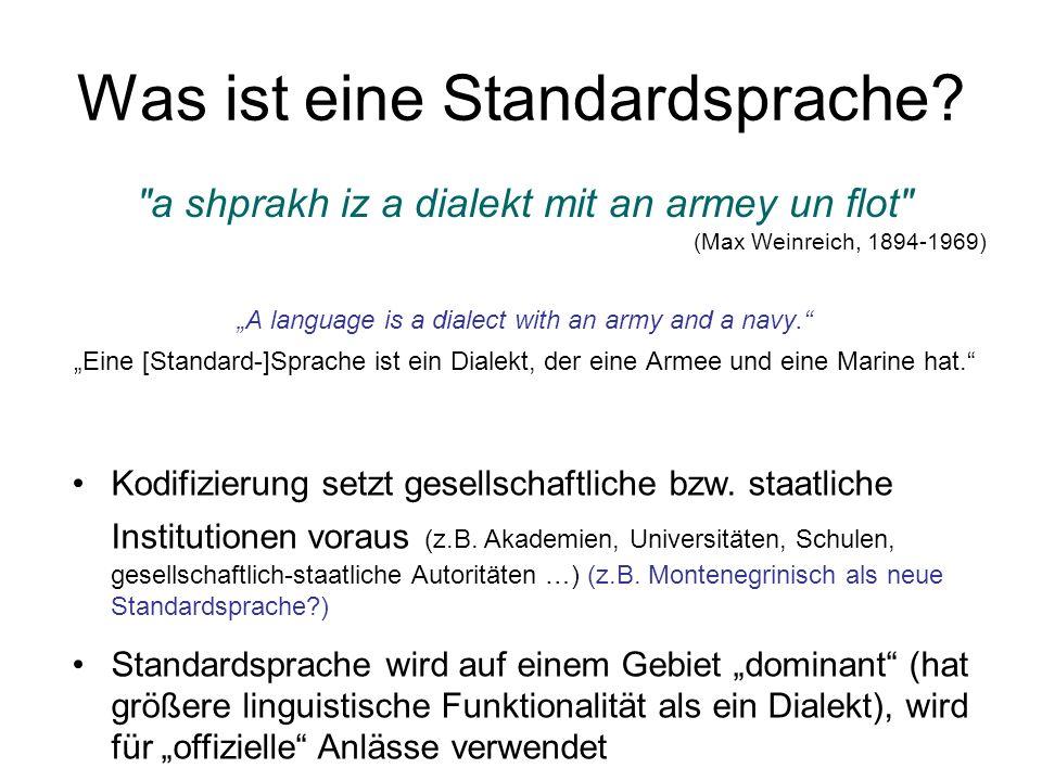 Was ist eine Standardsprache
