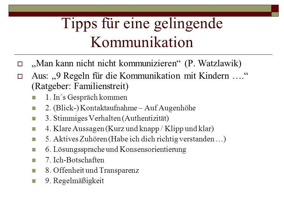 Tipps für eine gelingende Kommunikation
