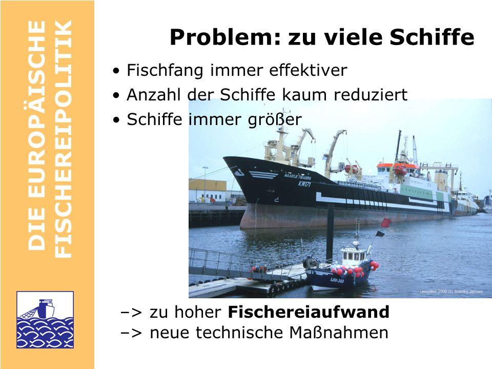 Problem: zu viele Schiffe