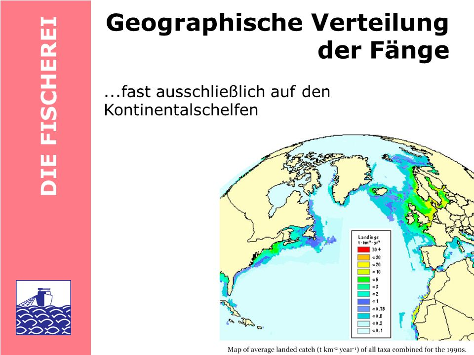Geographische Verteilung der Fänge