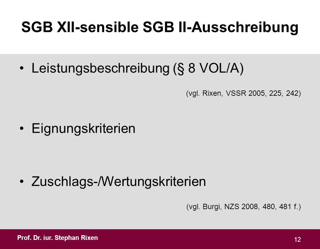 SGB XII-sensible SGB II-Ausschreibung