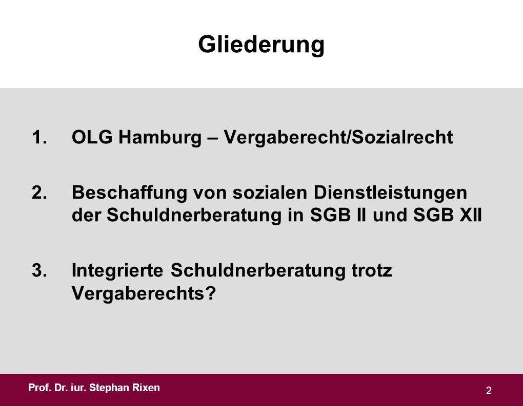 Gliederung OLG Hamburg – Vergaberecht/Sozialrecht