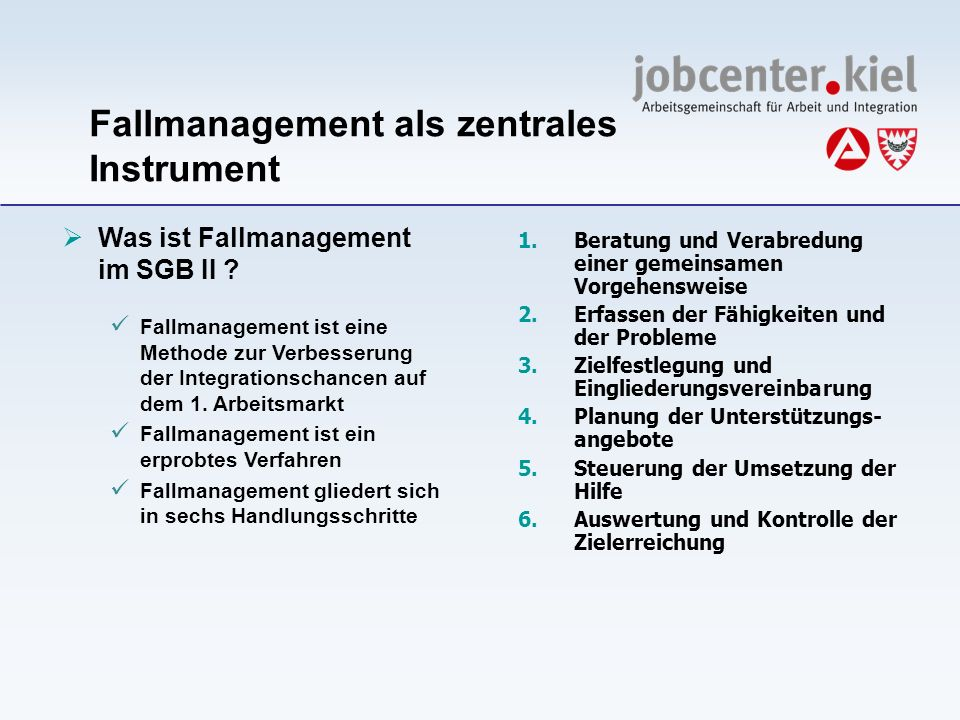 Fallmanagement als zentrales Instrument