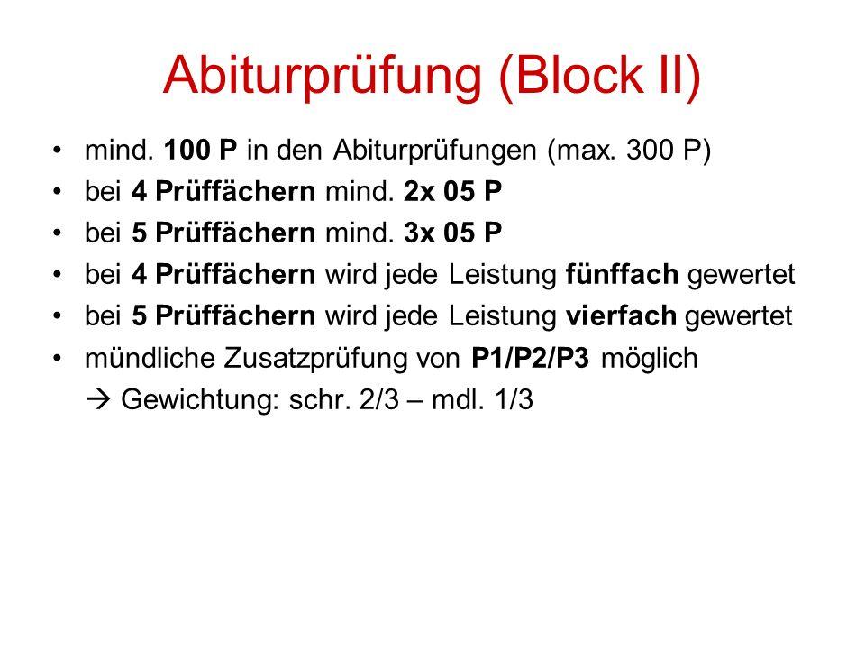 Abiturprüfung (Block II)