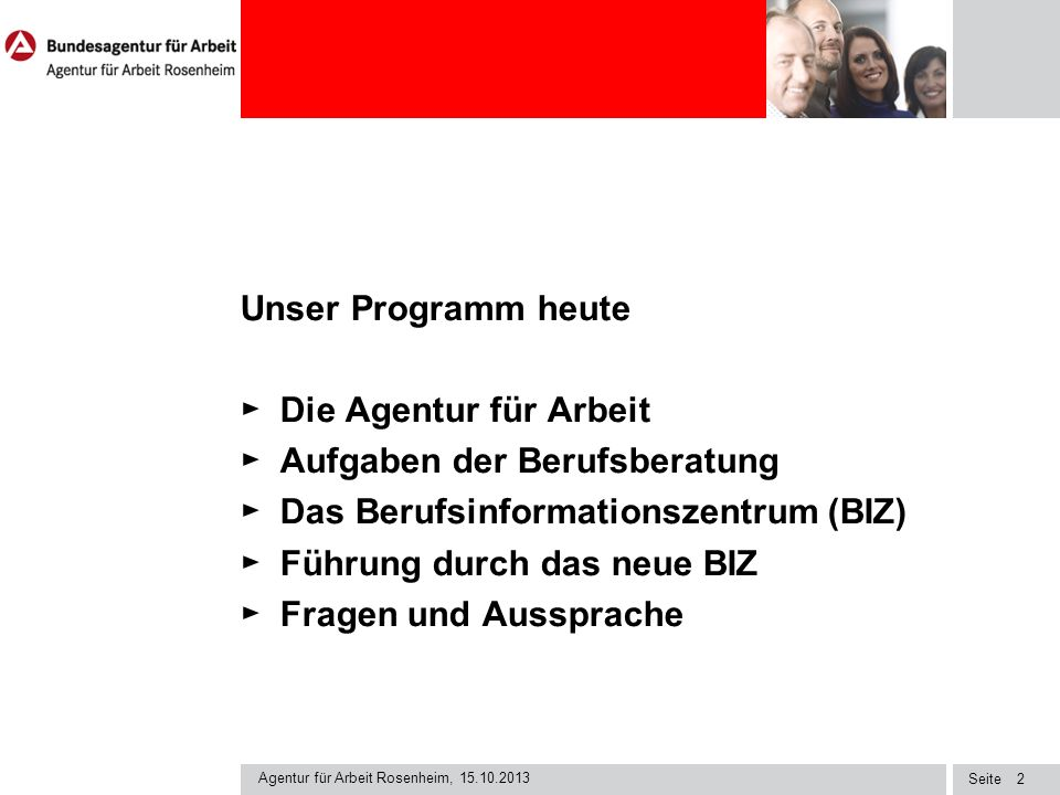 Aufgaben der Berufsberatung Das Berufsinformationszentrum (BIZ)