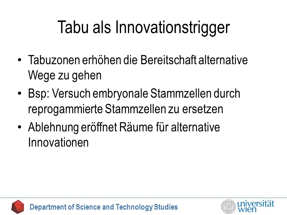 Tabu als Innovationstrigger