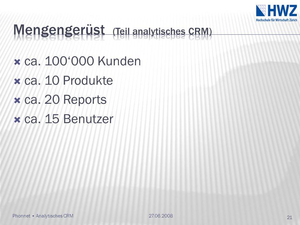 Mengengerüst (Teil analytisches CRM)