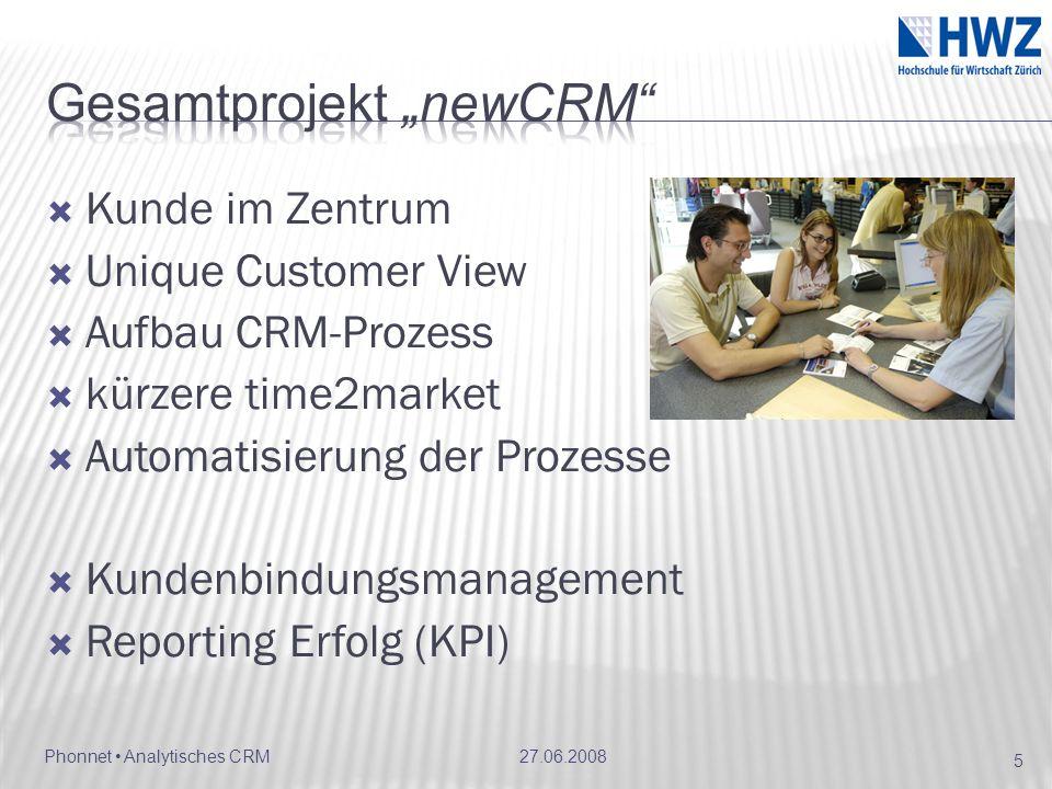 "Gesamtprojekt ""newCRM"