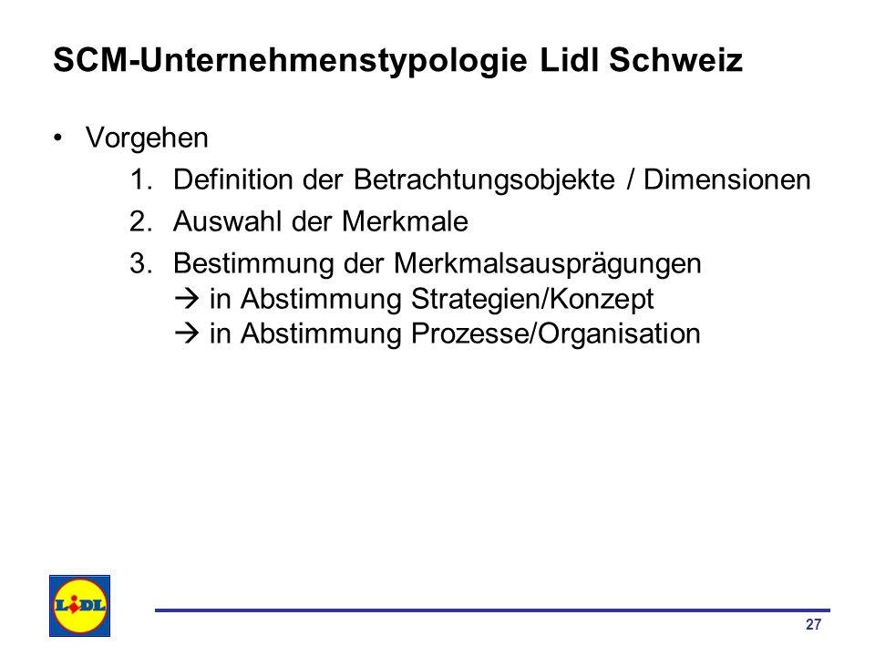 SCM-Unternehmenstypologie Lidl Schweiz