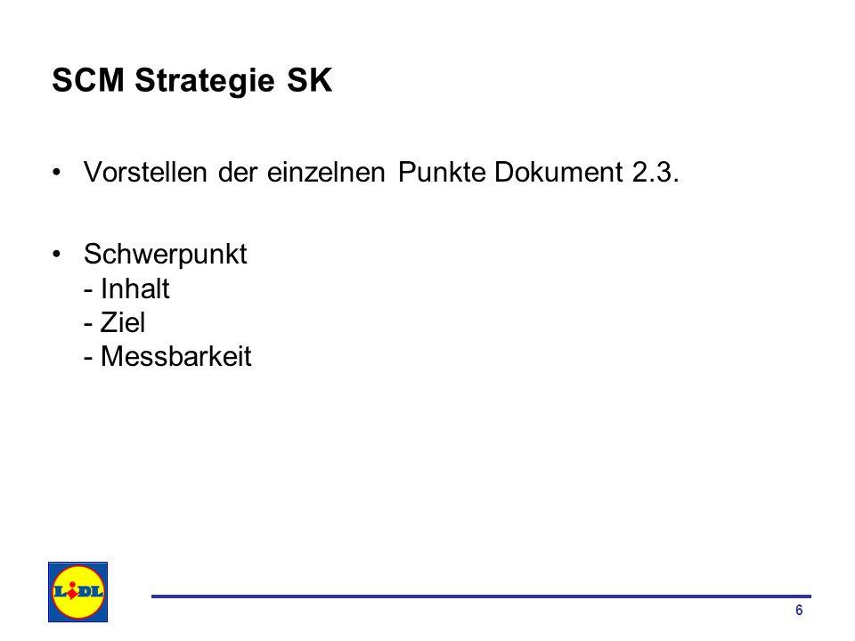 SCM Strategie SK Vorstellen der einzelnen Punkte Dokument 2.3.