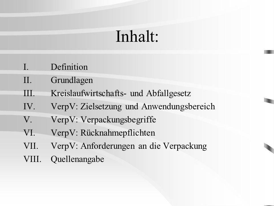 Inhalt: I. Definition II. Grundlagen