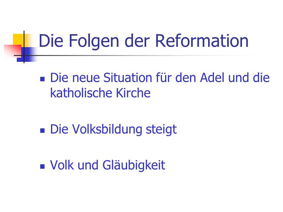 Die Folgen der Reformation