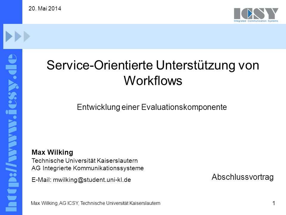 Service-Orientierte Unterstützung von Workflows