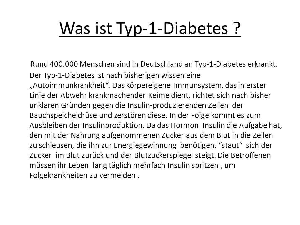 Was ist Typ-1-Diabetes