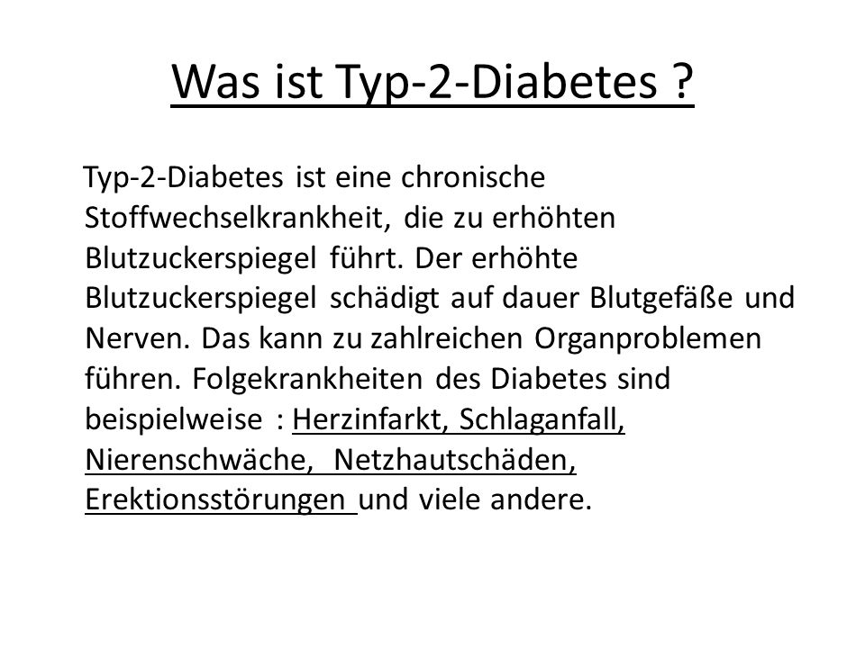 Was ist Typ-2-Diabetes