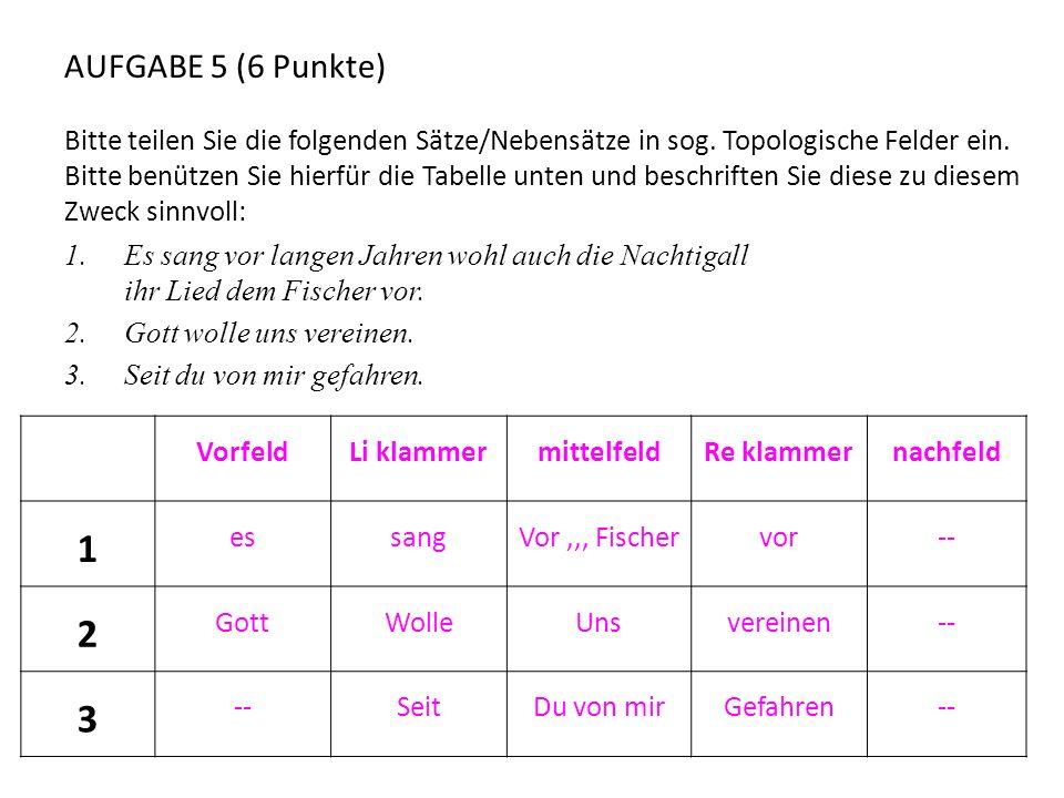 AUFGABE 5 (6 Punkte)
