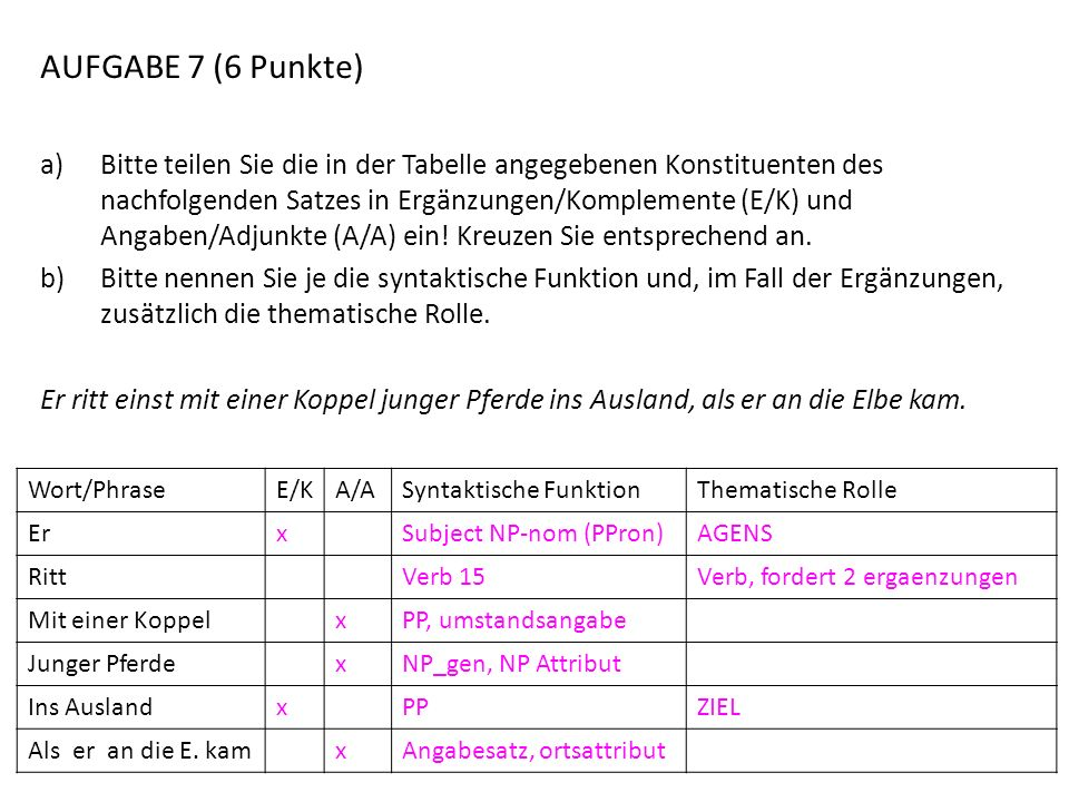 AUFGABE 7 (6 Punkte)
