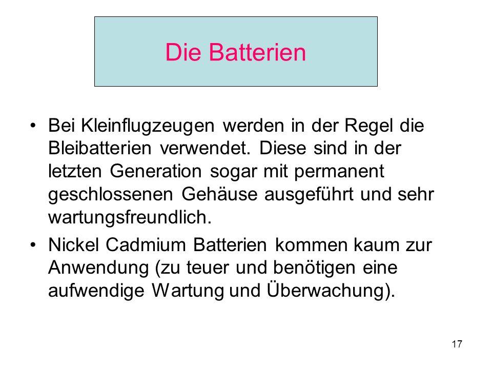 Die Batterien Die Batterien