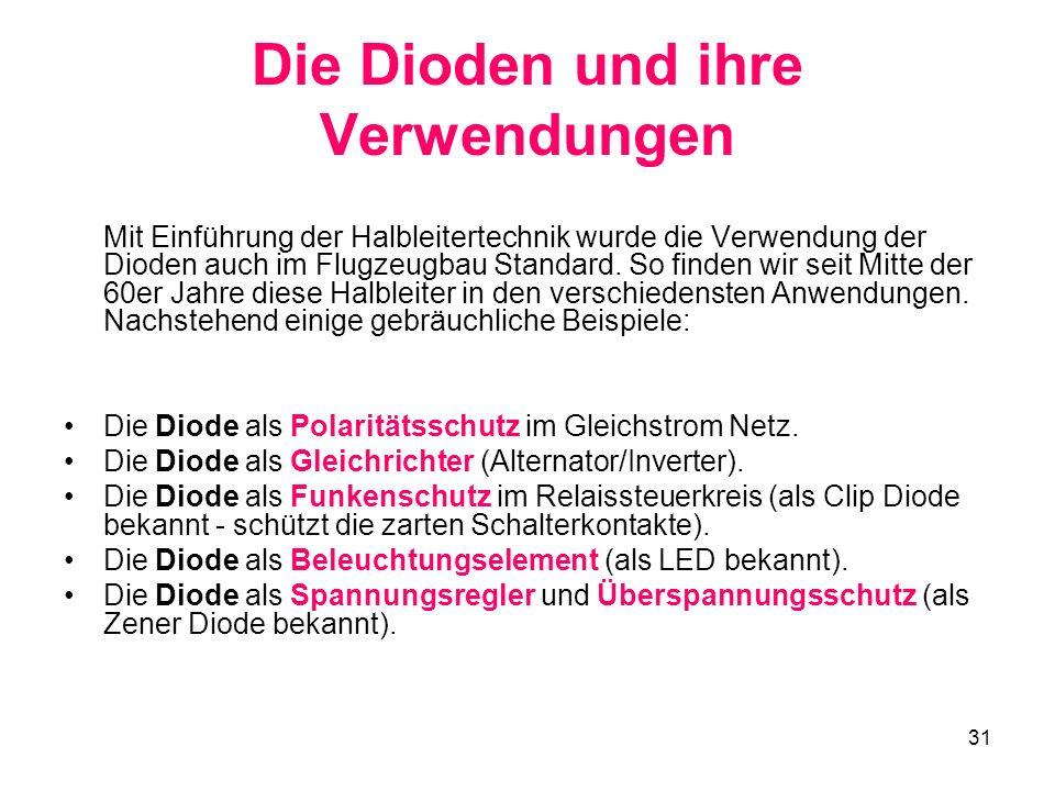 Die Dioden und ihre Verwendungen