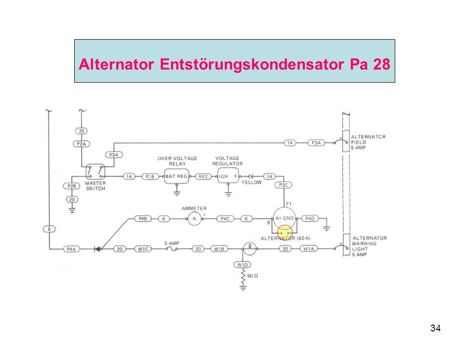 Alternator Entstörungskondensator Pa 28