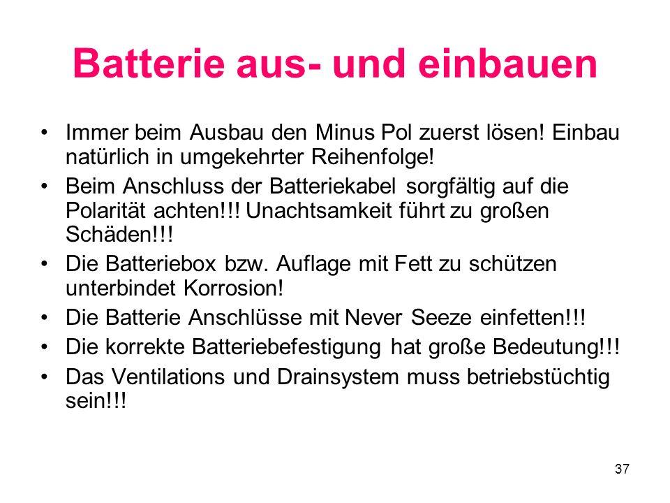 Batterie aus- und einbauen