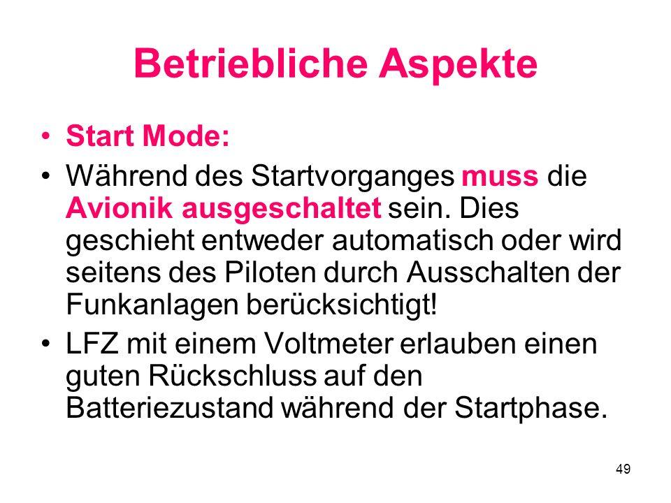 Betriebliche Aspekte Start Mode: