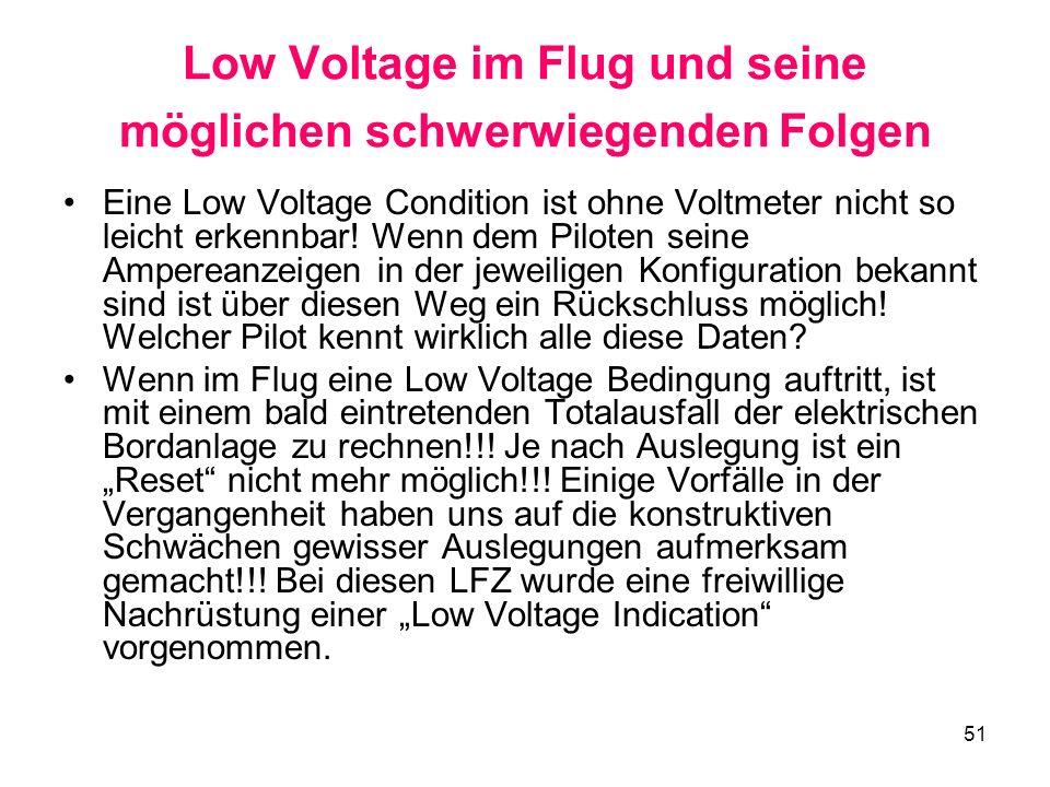 Low Voltage im Flug und seine möglichen schwerwiegenden Folgen