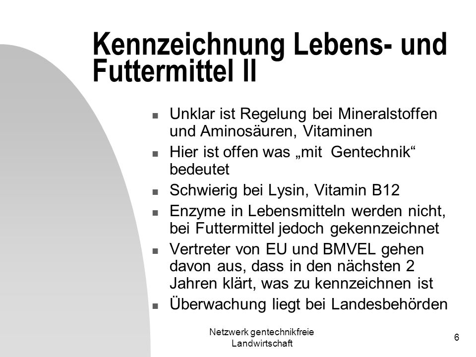 Kennzeichnung Lebens- und Futtermittel II