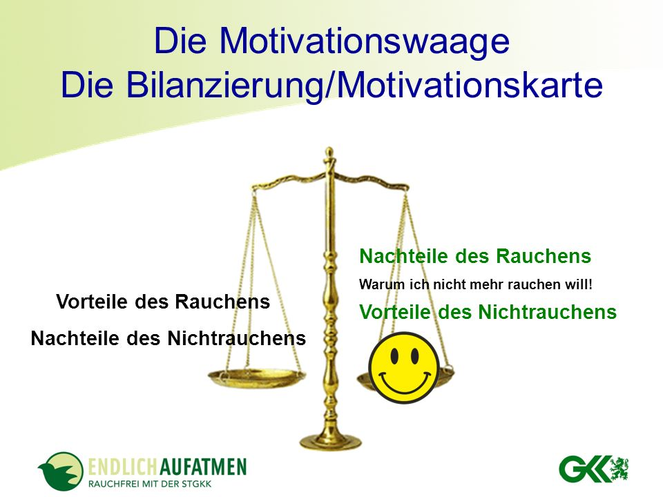 Die Motivationswaage Die Bilanzierung/Motivationskarte