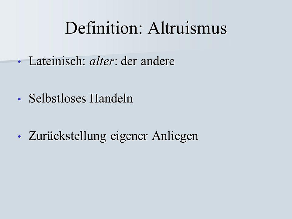 Definition: Altruismus