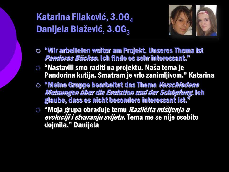 Katarina Filaković, 3.OG4 Danijela Blažević, 3.OG3