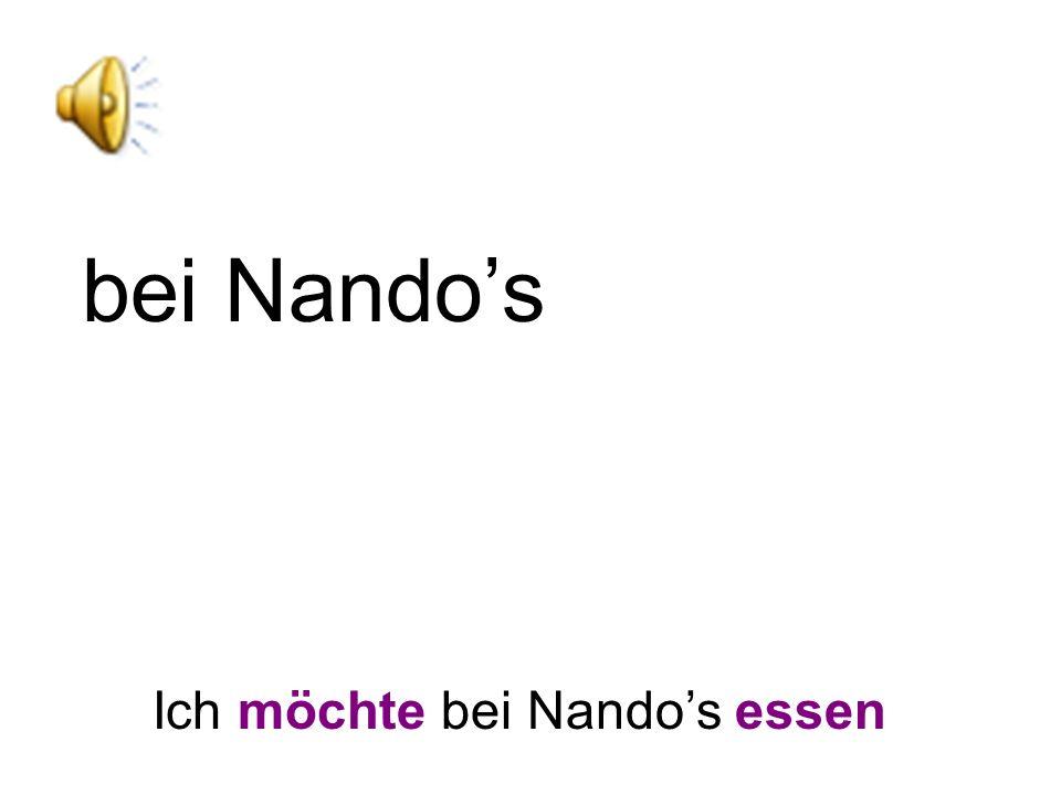 bei Nando's Ich möchte bei Nando's essen
