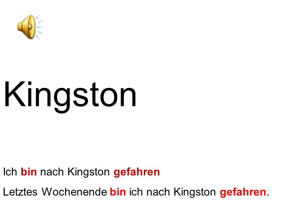 Kingston Ich bin nach Kingston gefahren
