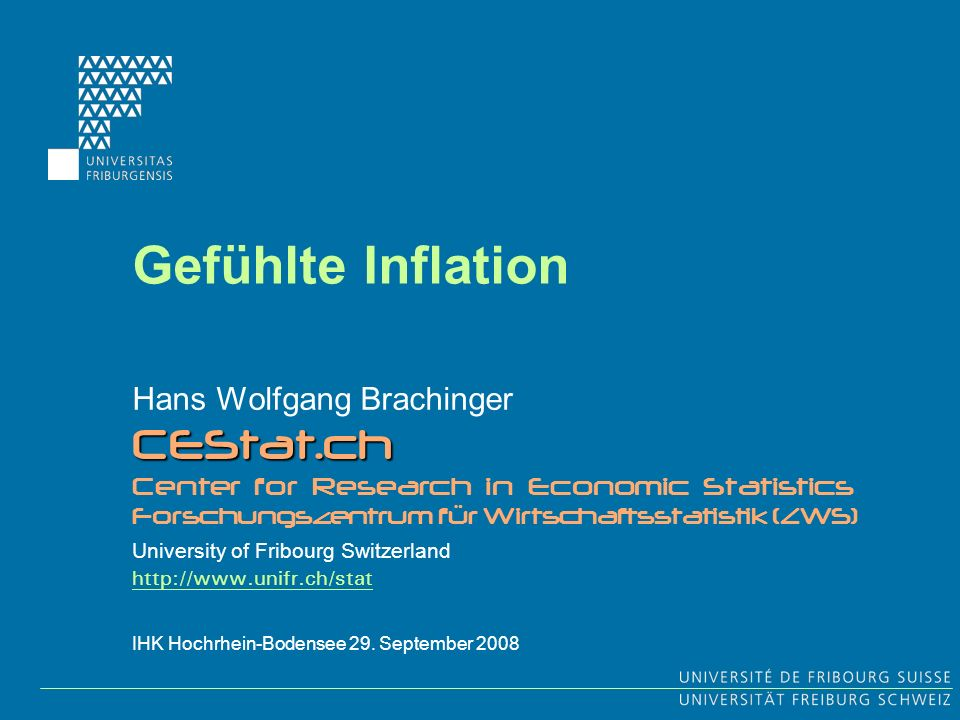 Gefühlte Inflation CEStat.ch Hans Wolfgang Brachinger