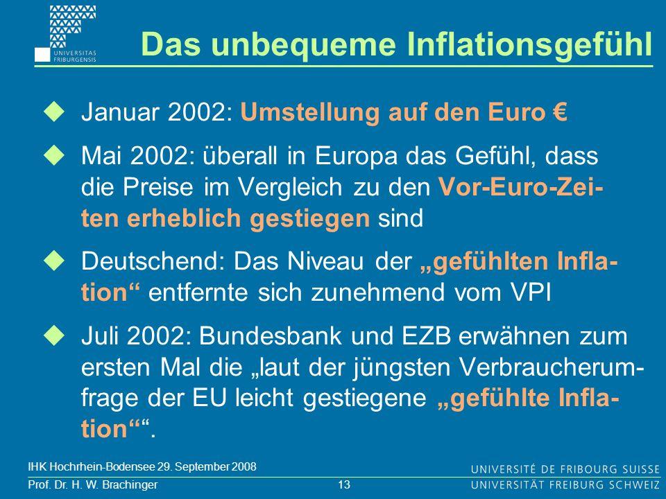 Das unbequeme Inflationsgefühl