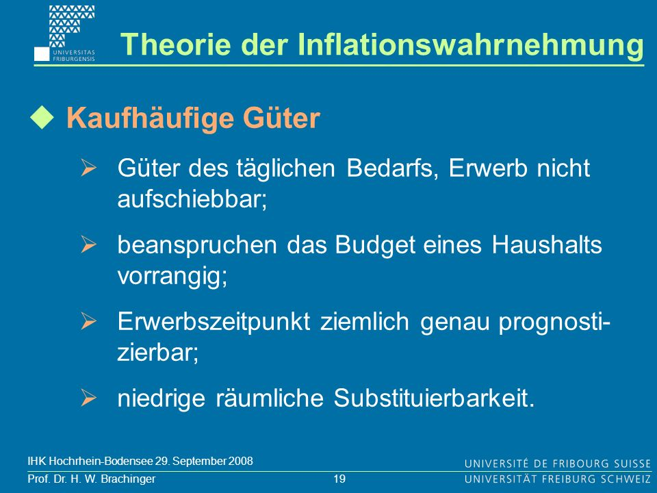 Theorie der Inflationswahrnehmung