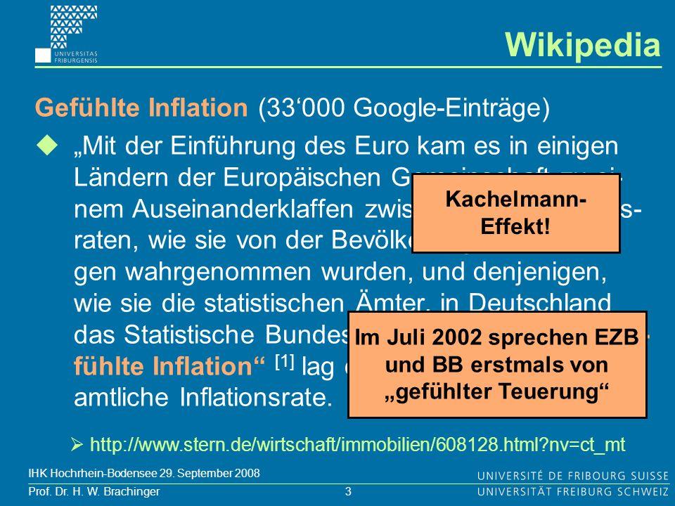 """Im Juli 2002 sprechen EZB und BB erstmals von """"gefühlter Teuerung"""