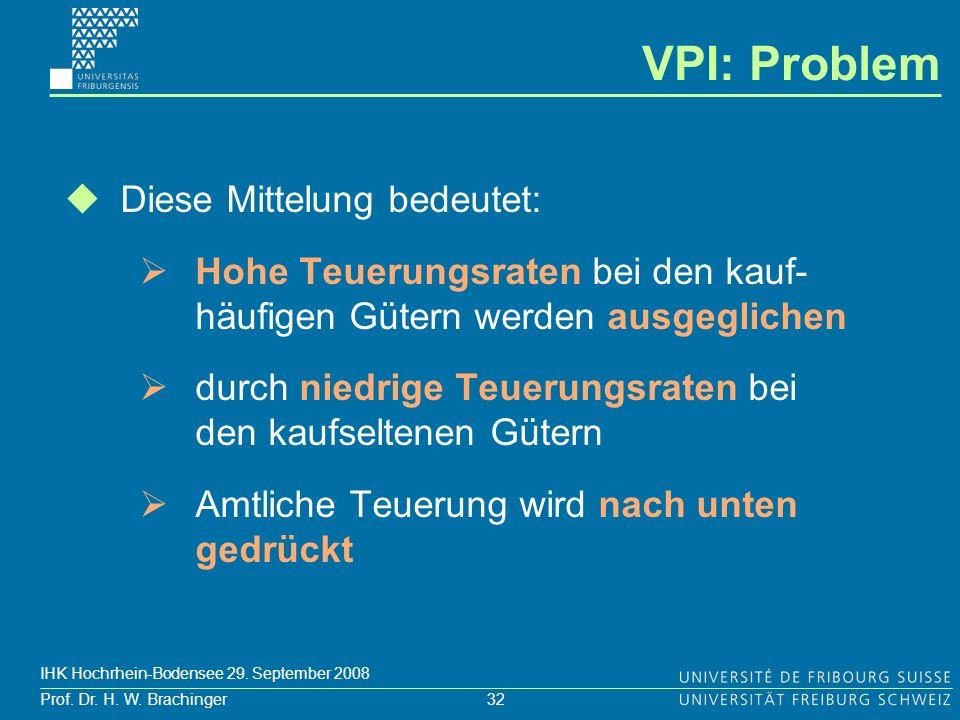 VPI: Problem Diese Mittelung bedeutet: