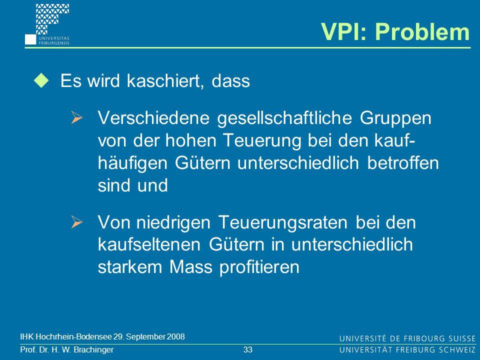 VPI: Problem Es wird kaschiert, dass